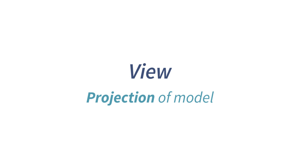View Projection of model