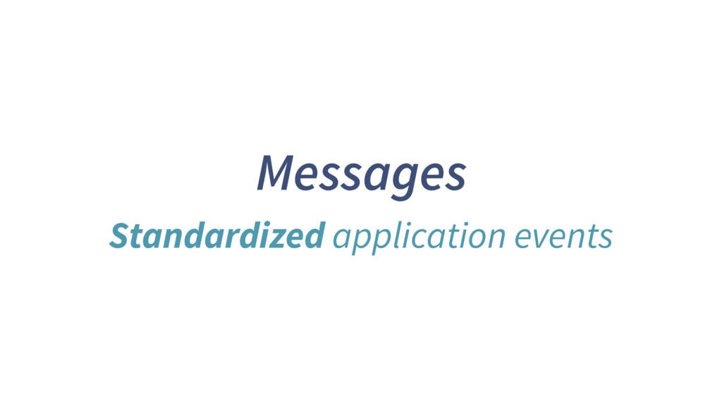 Messages Standardized application events