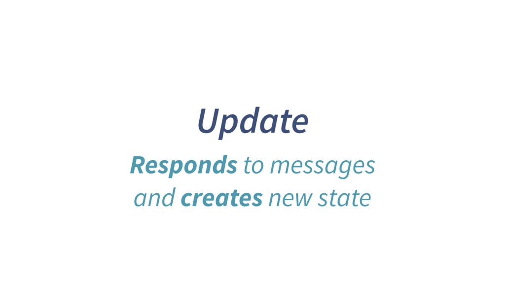 Update Responds to messages and creates new sta...