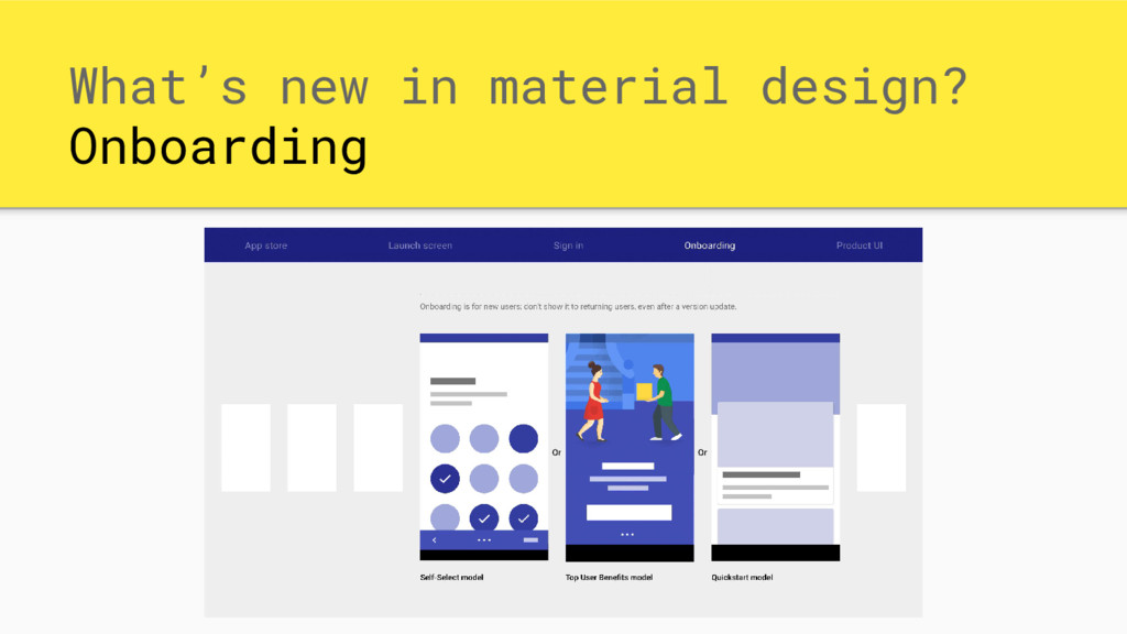 What's new in material design? Onboarding