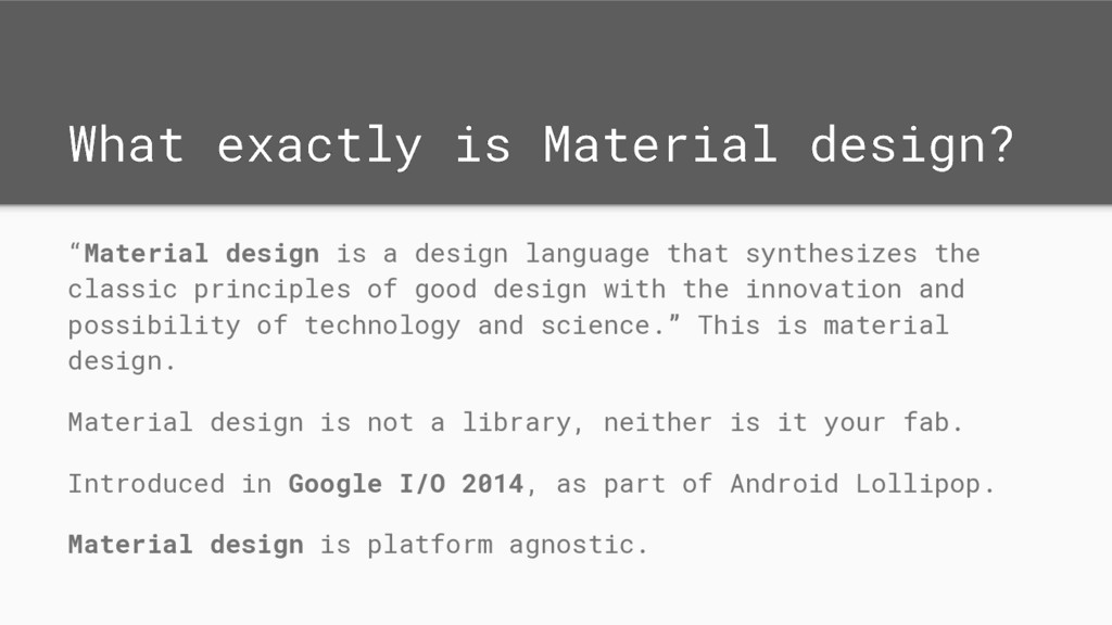 "What exactly is Material design? ""Material desi..."