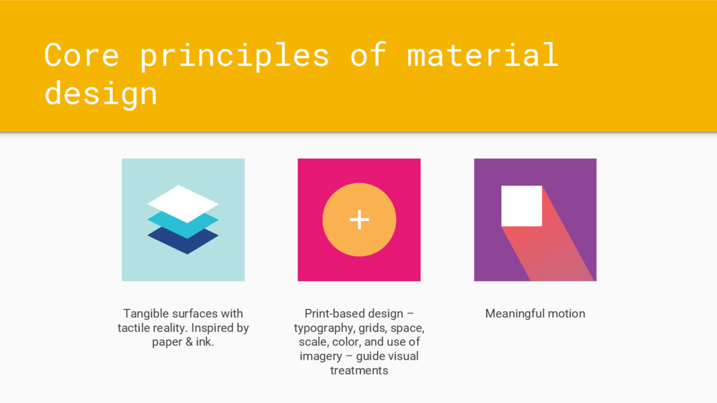 Core principles of material design Tangible sur...