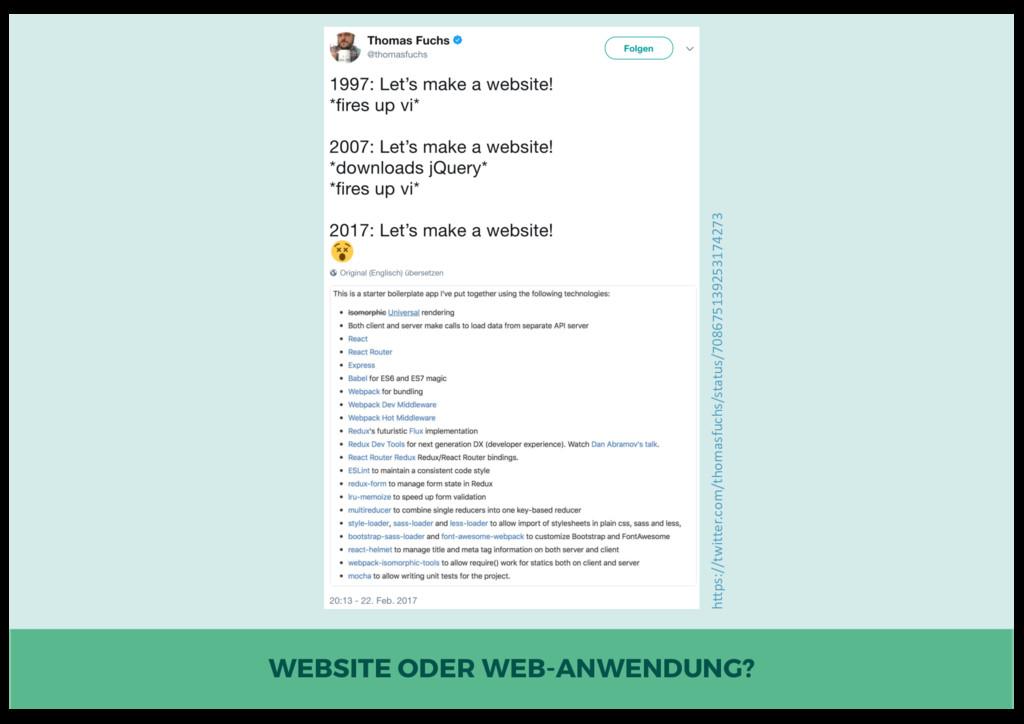 WEBSITE ODER WEB-ANWENDUNG? https://twitter.com...