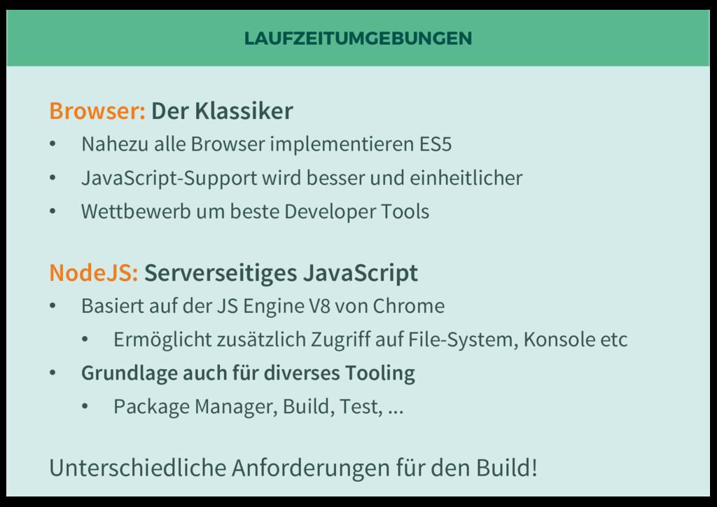 LAUFZEITUMGEBUNGEN Browser: Der Klassiker • Nah...