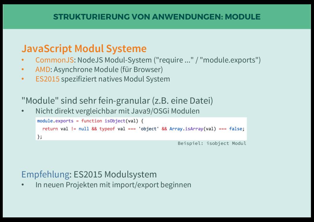 STRUKTURIERUNG VON ANWENDUNGEN: MODULE JavaScri...
