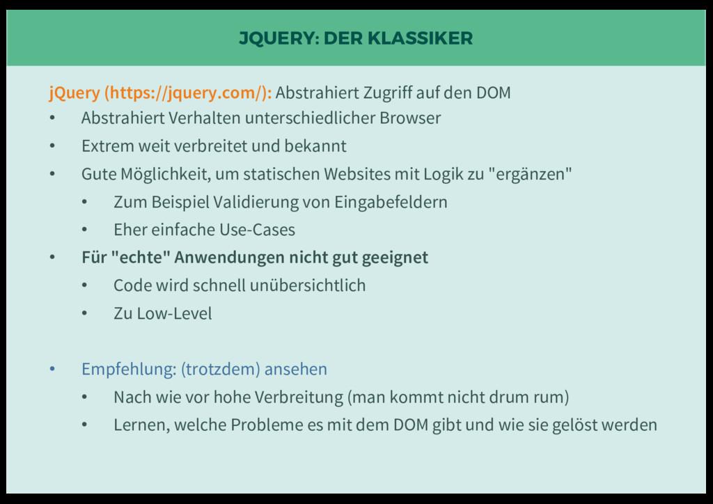 JQUERY: DER KLASSIKER jQuery (https://jquery.co...