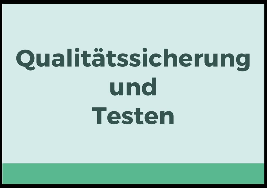 Qualitätssicherung und Testen