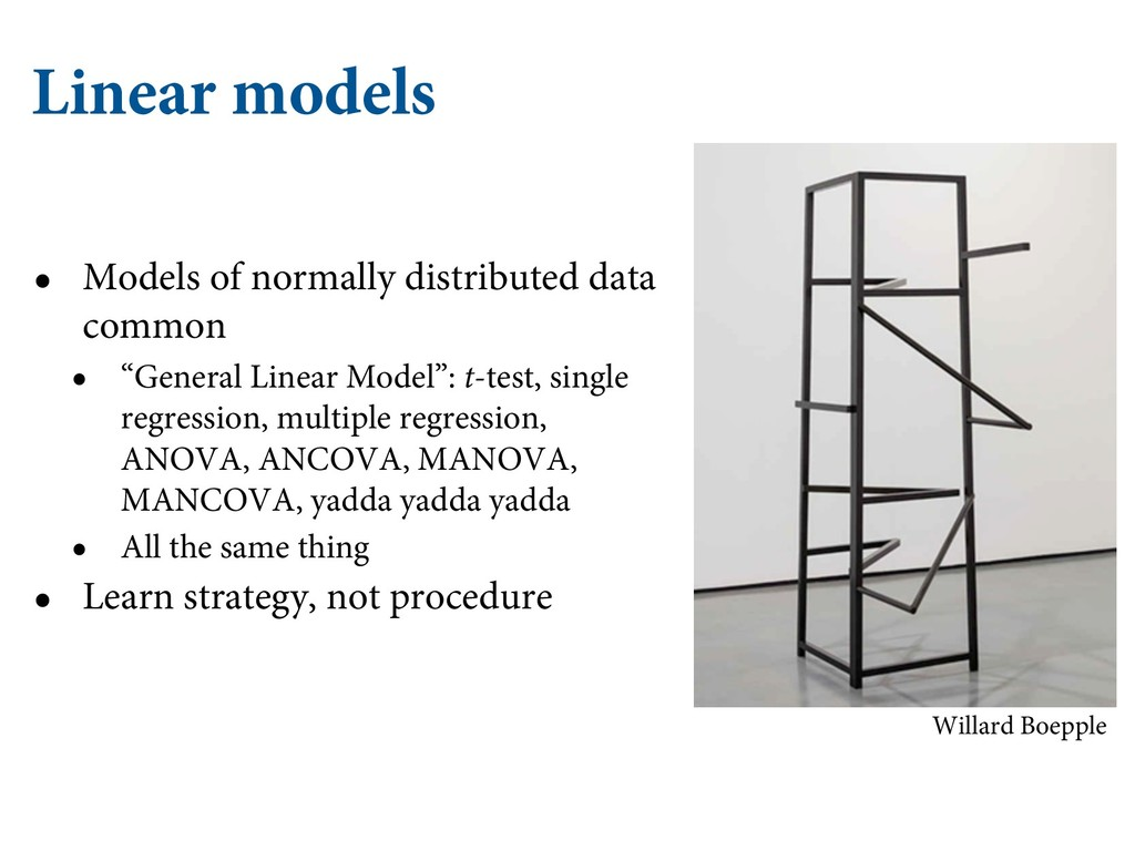 Linear models • Models of normally distributed ...