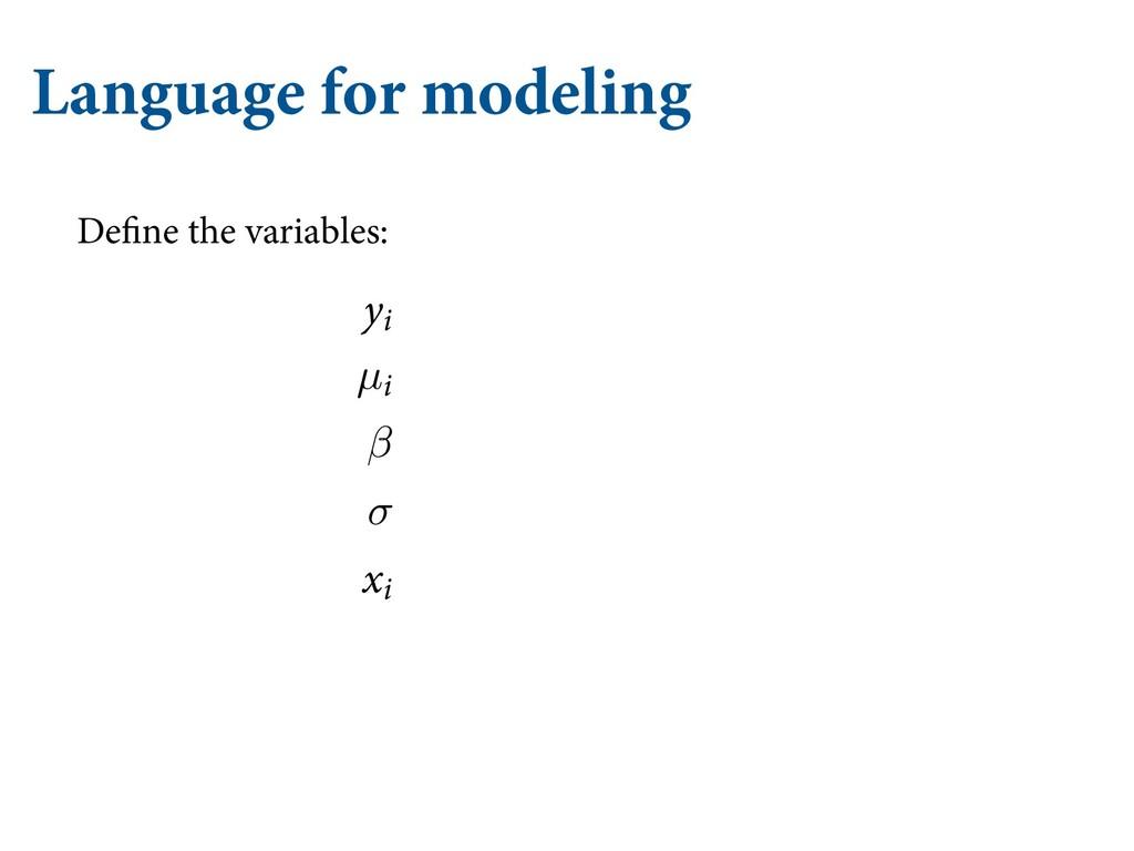 Language for modeling QQMJFT UP NPEFMT JO FWFSZ...