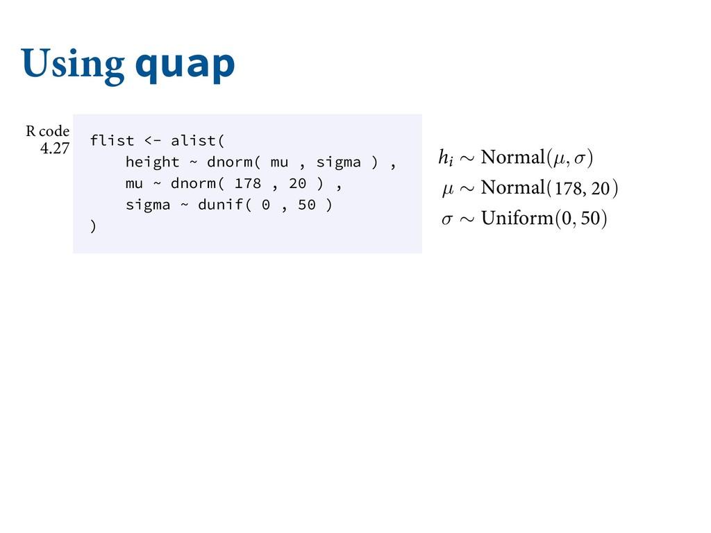 Using quap 5P DPNQMFUF UIF NPEFM XFSF HPJOH U...