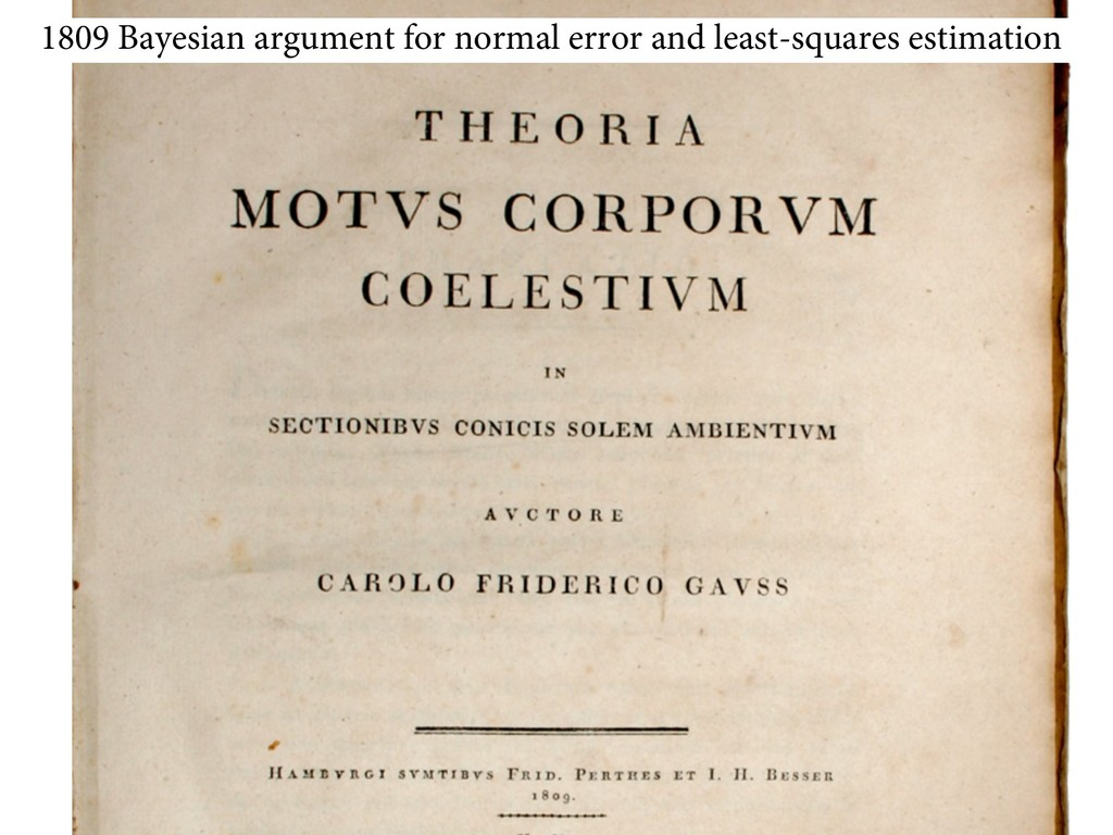 1809 Bayesian argument for normal error and lea...