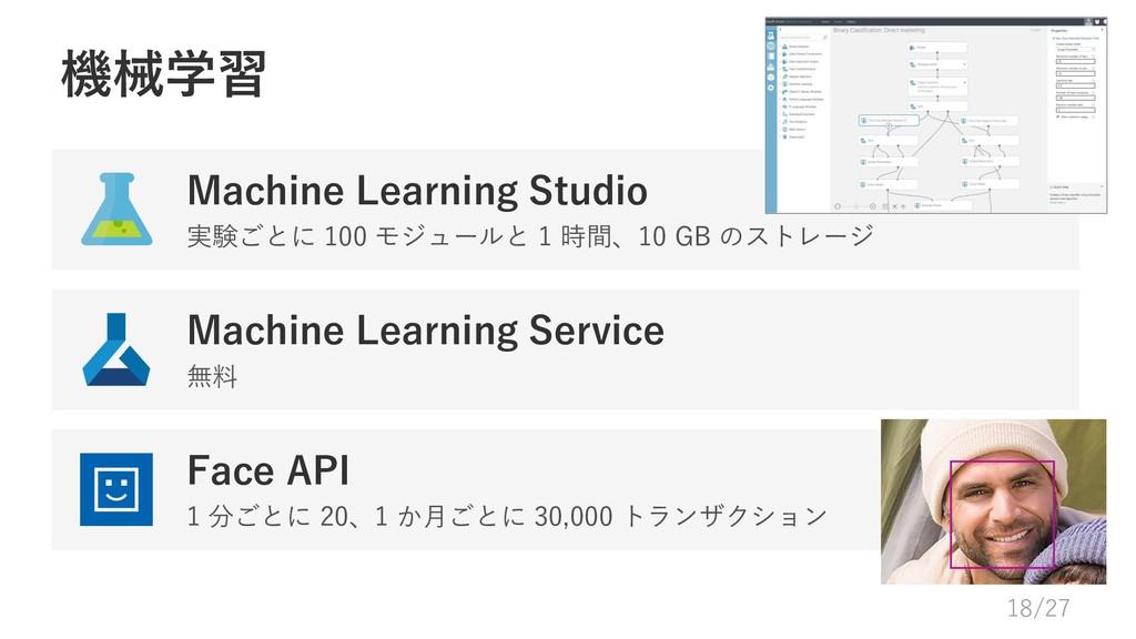 機械学習 Machine Learning Studio 実験ごとに 100 モジュールと 1...
