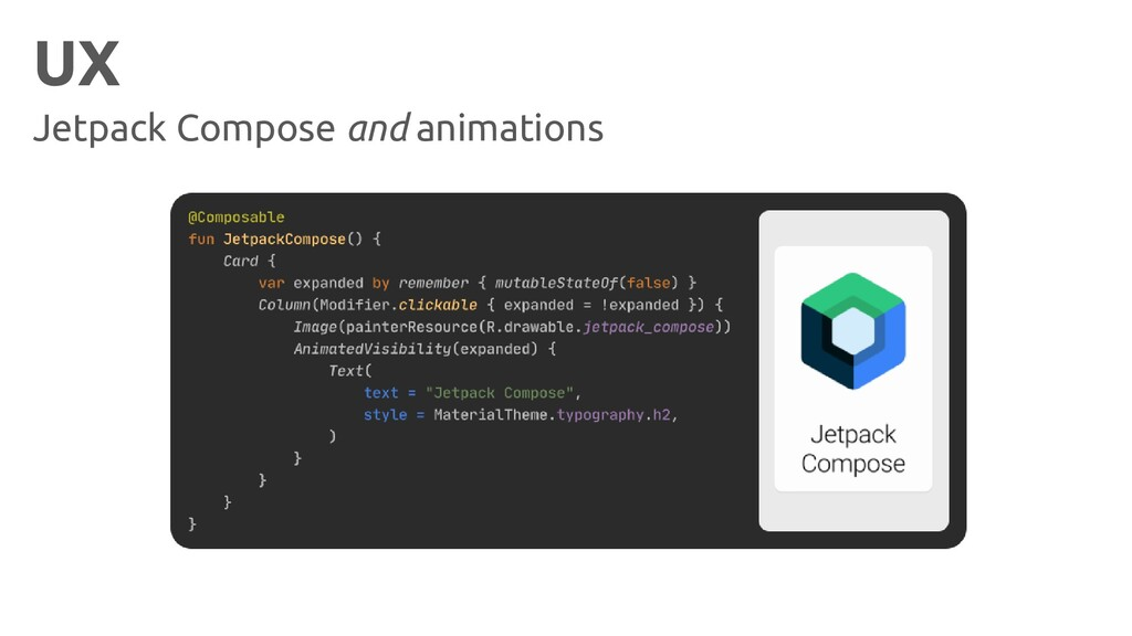 UX Jetpack Compose and animations