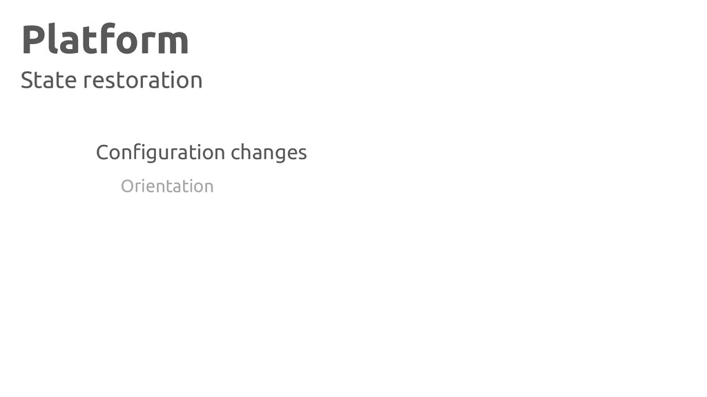 Platform State restoration Configuration change...