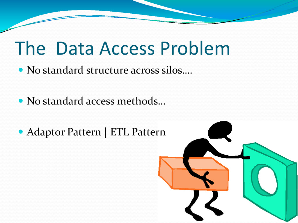 The Data Access Problem  No standard structure...