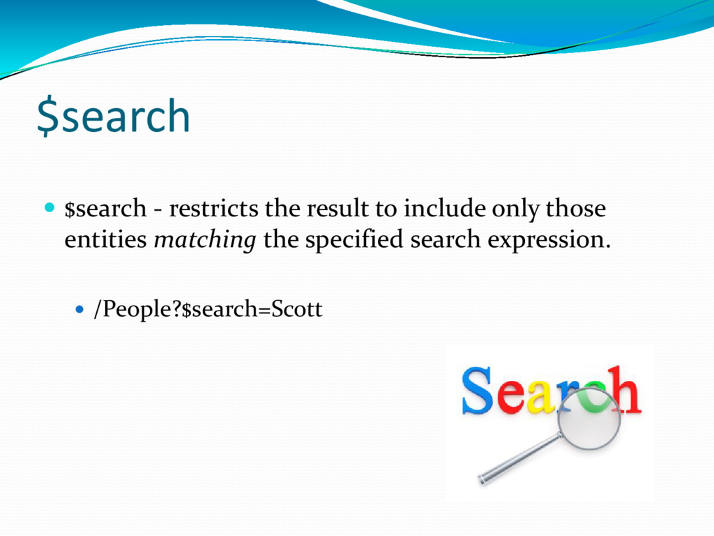 $search  $search - restricts the result to inc...