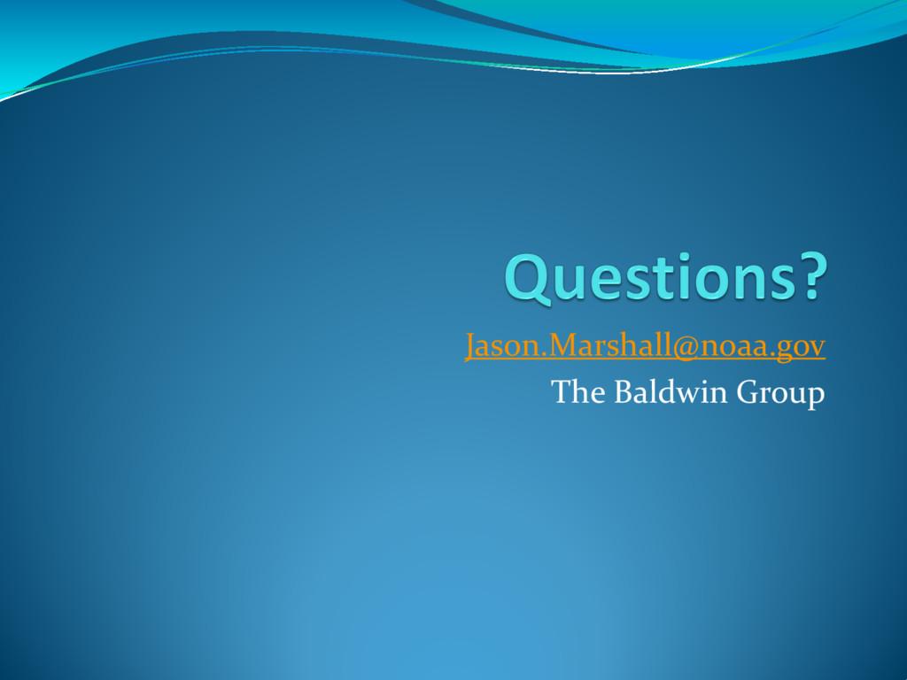 Jason.Marshall@noaa.gov The Baldwin Group