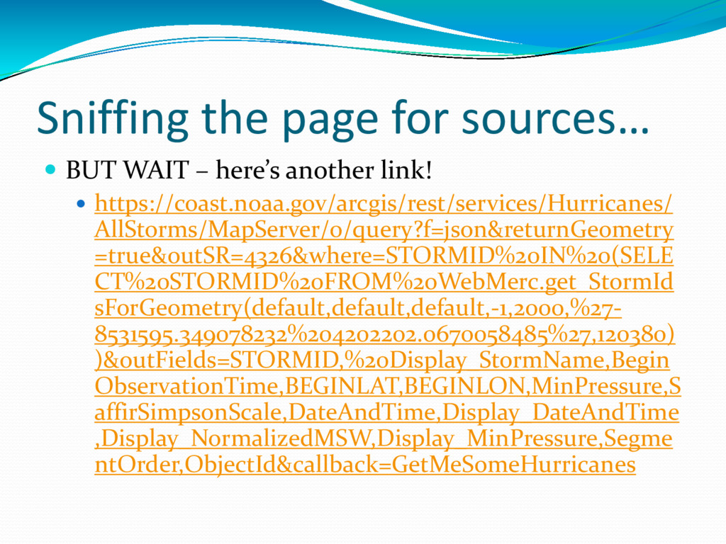 Sniffing the page for sources…  BUT WAIT – her...