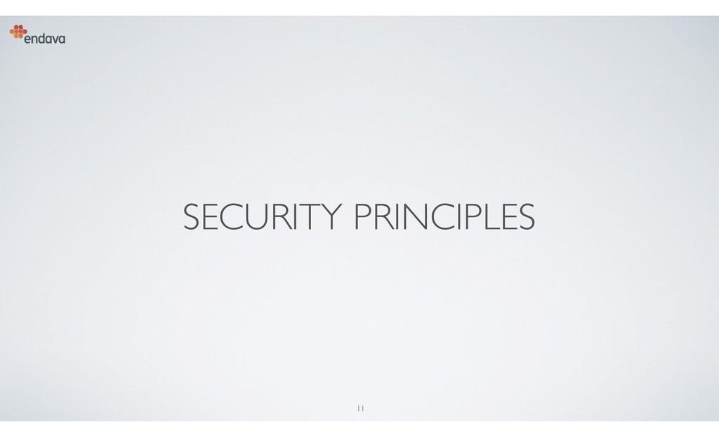 11 SECURITY PRINCIPLES