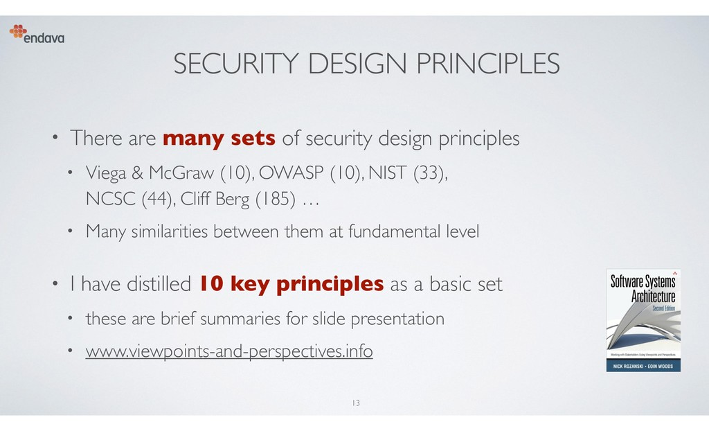 SECURITY DESIGN PRINCIPLES • There are many set...