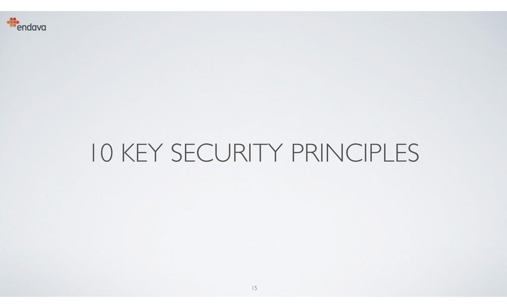 15 10 KEY SECURITY PRINCIPLES