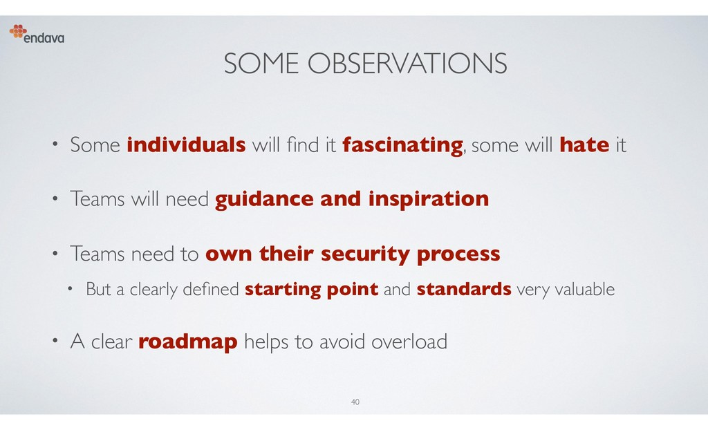SOME OBSERVATIONS • Some individuals will find i...