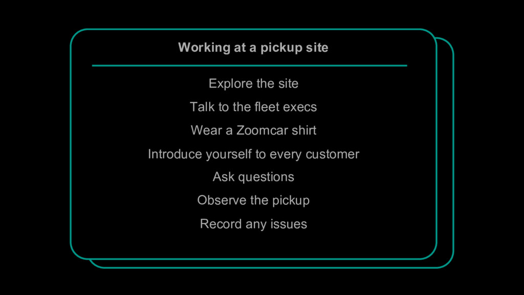 Working at a pickup site Explore the site Talk ...