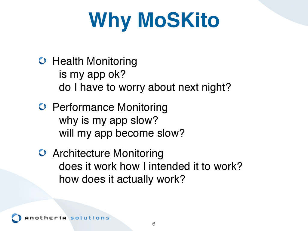 Why MoSKito Health Monitoring 