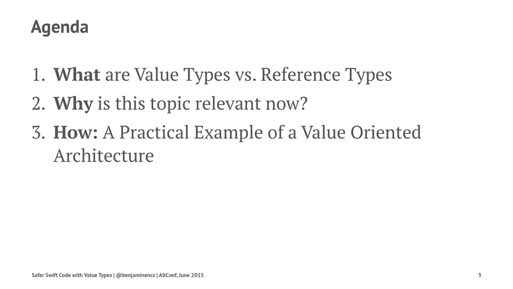 Agenda 1. What are Value Types vs. Reference Ty...