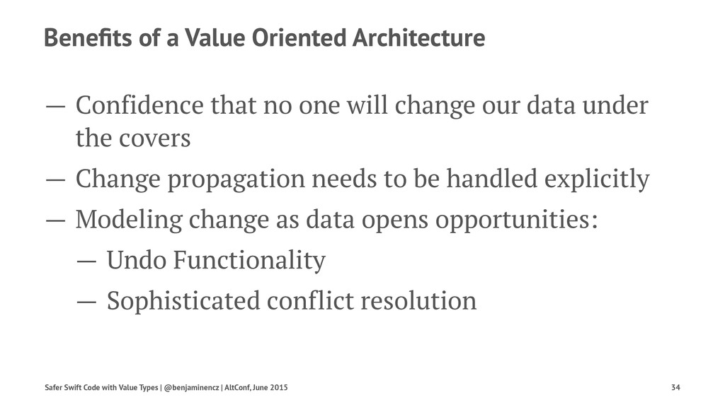 Benefits of a Value Oriented Architecture — Conf...