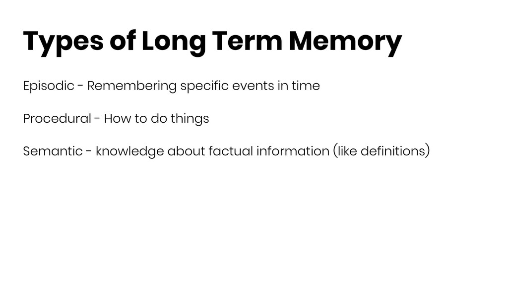 Types of Long Term Memory Episodic - Rememberin...