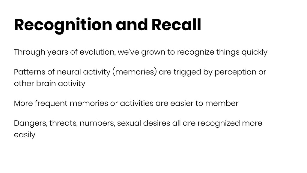 Recognition and Recall Through years of evoluti...