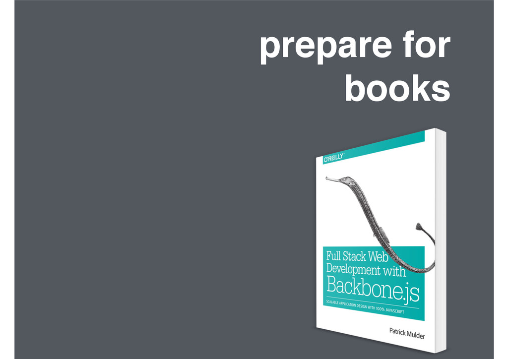 prepare for! books