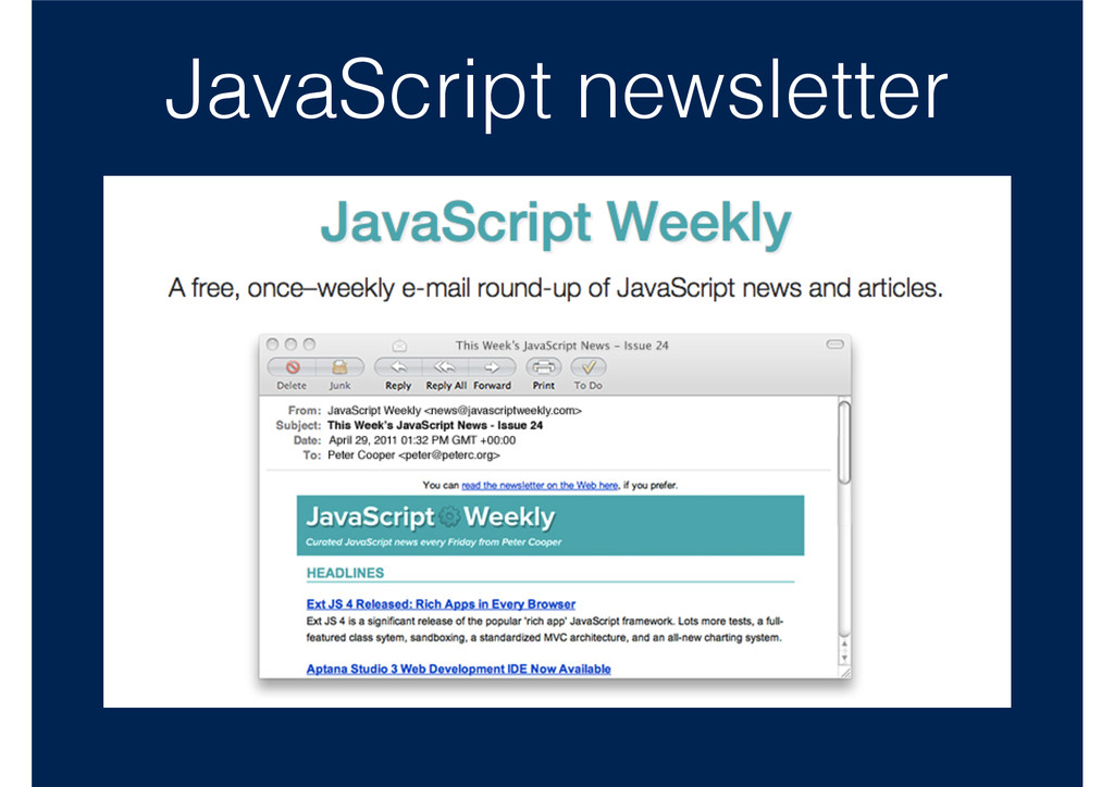 JavaScript newsletter