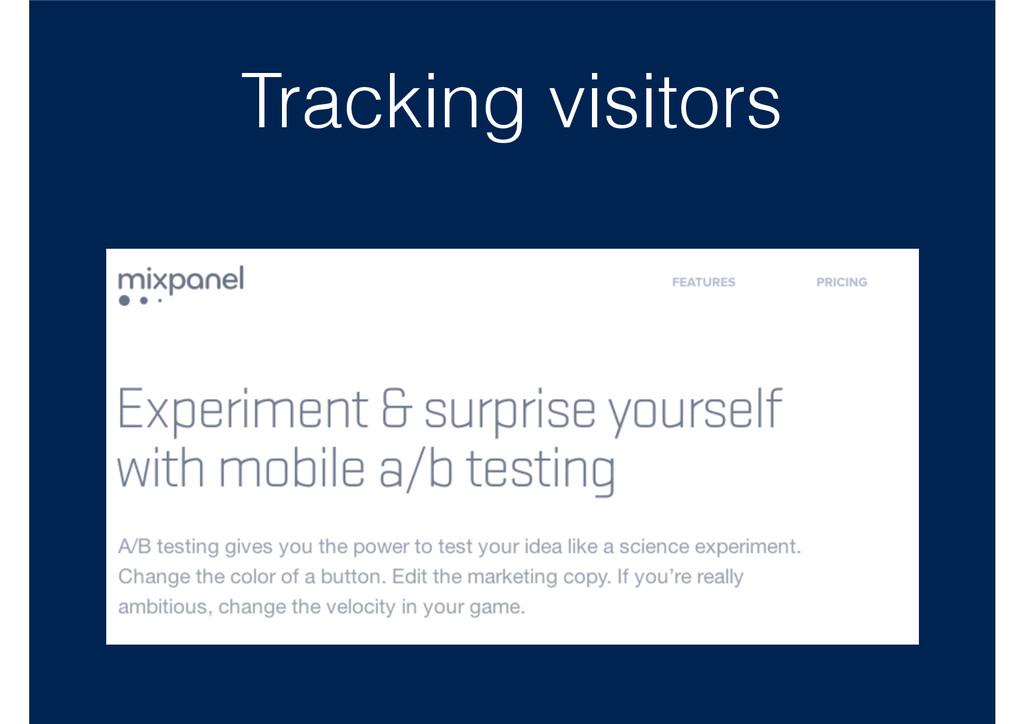 Tracking visitors