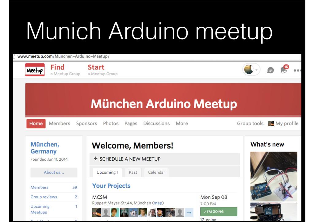 Munich Arduino meetup