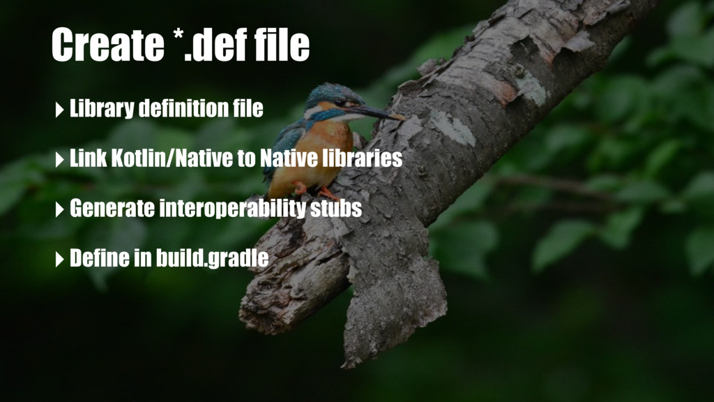 Create *.def file ‣Library definition file ‣Lin...