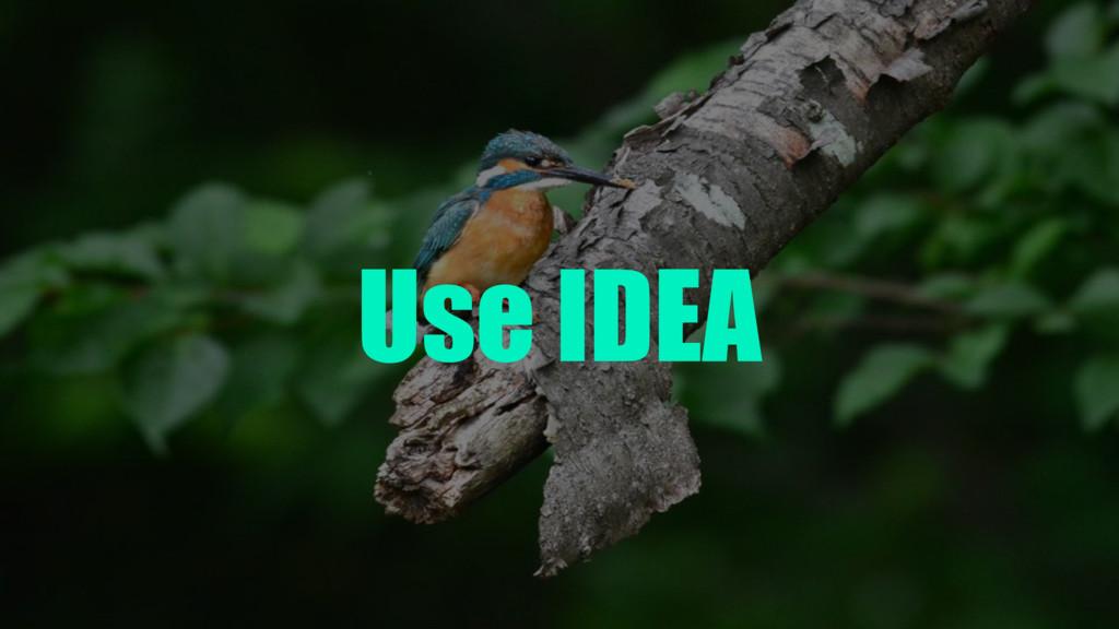 Use IDEA