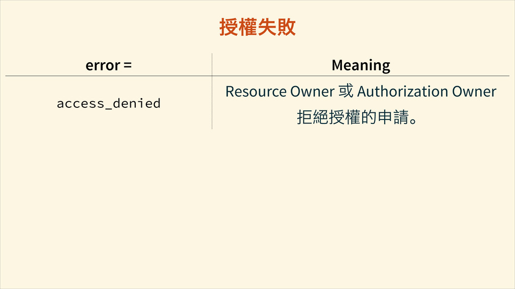 error = Meaning access_denied Resource Owner ࠇ ...