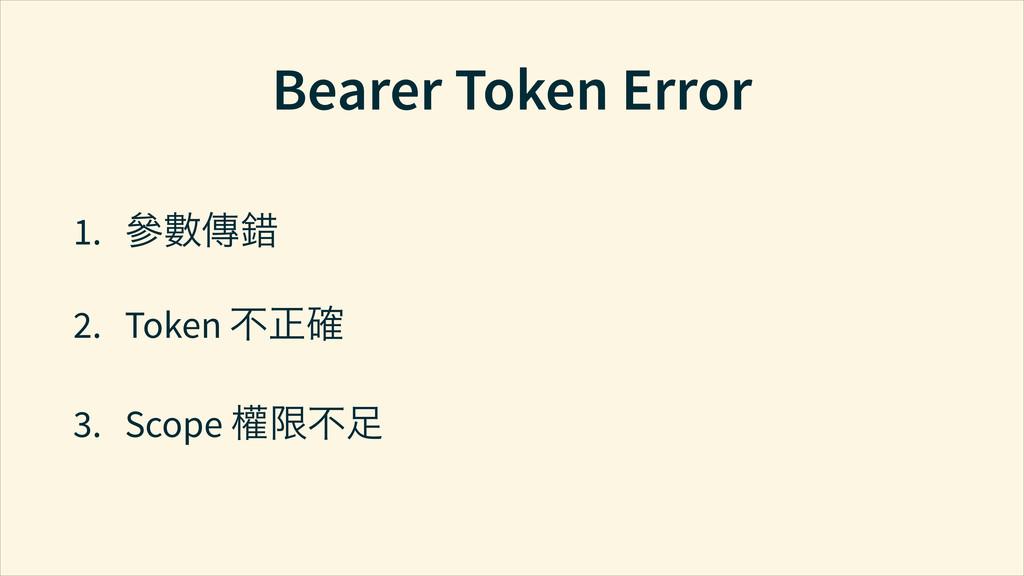Bearer Token Error 1. Ṛ⅂ẖấ 2. Token ҂ᆞ 3. Scop...
