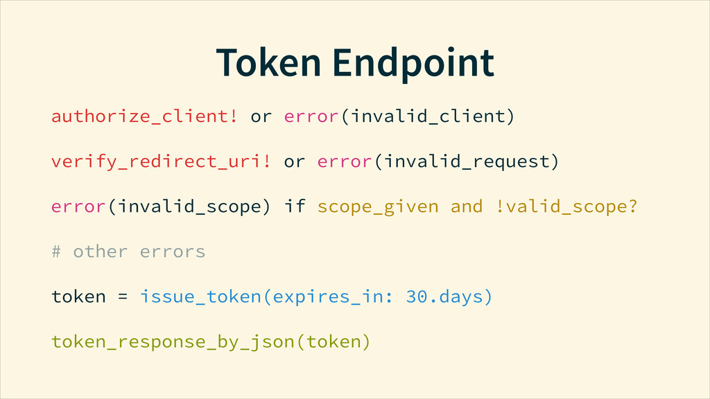 Token Endpoint authorize_client! or error(inval...