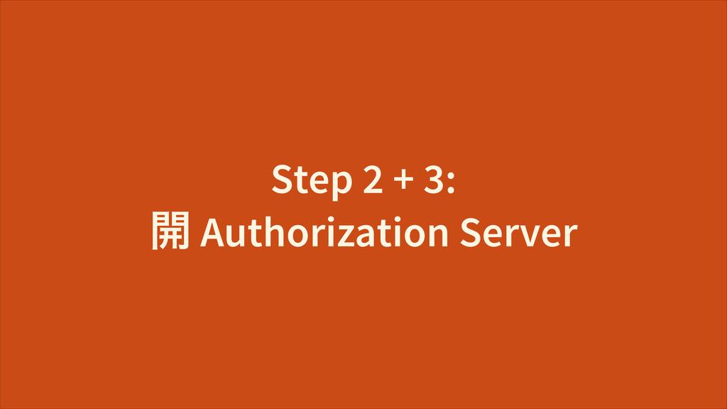 Step 2 + 3: Ῐ Authorization Server