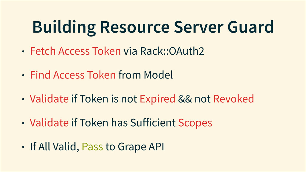 Building Resource Server Guard • Fetch Access T...