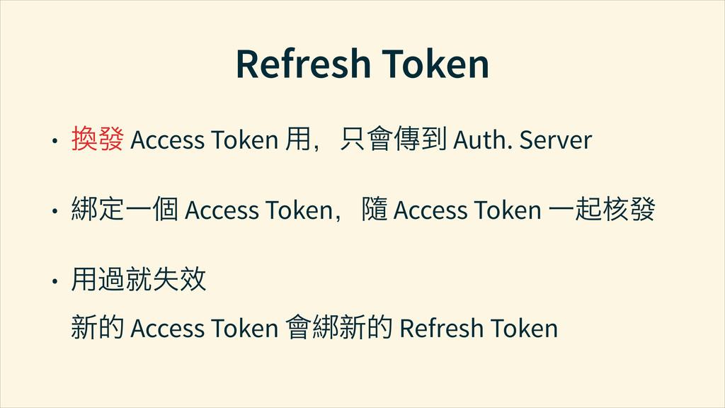 Refresh Token • ㍤ứ Access Token Ⴈđᆺẖ֞ Auth. Se...