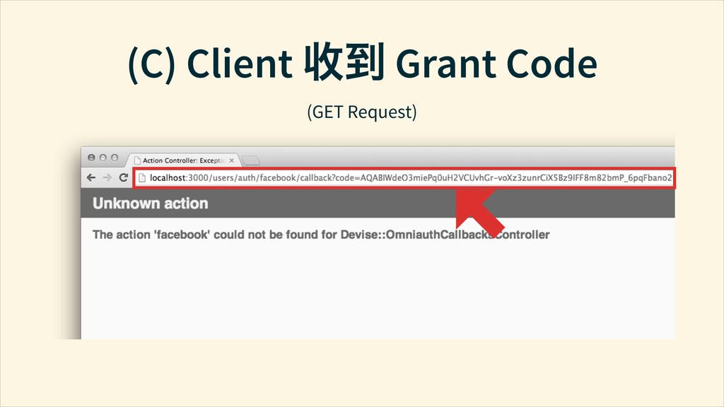 (C) Client ൬֞ Grant Code (GET Request)