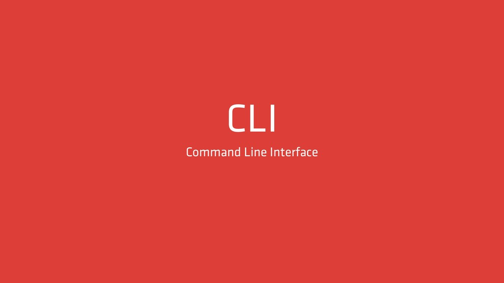 CLI Command Line Interface