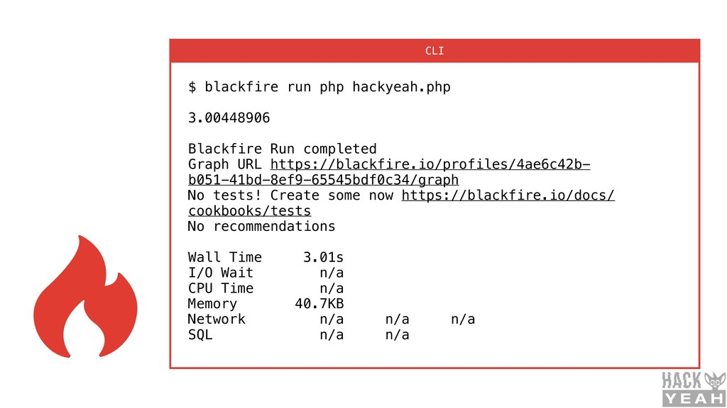 $ blackfire run php hackyeah.php 