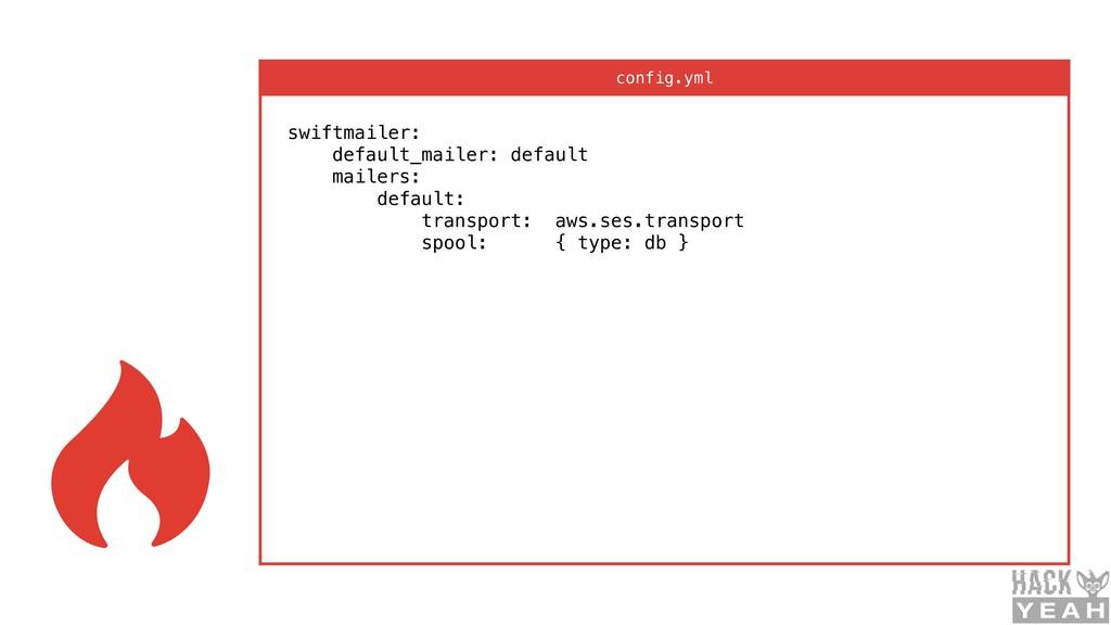 swiftmailer: default_mailer: default mailers:...