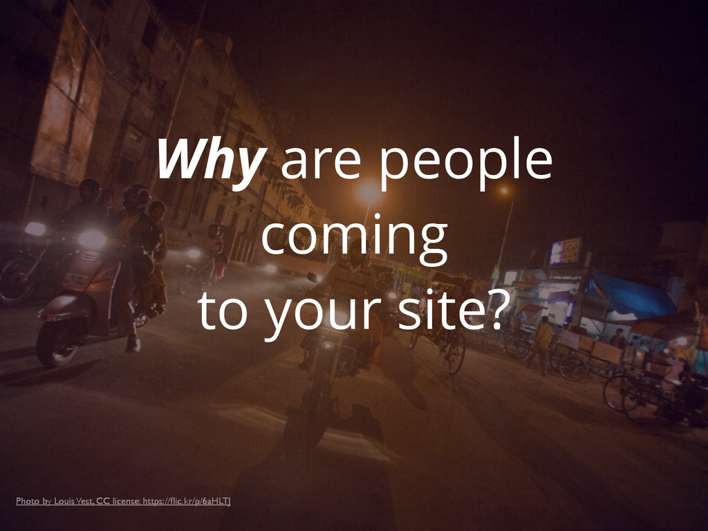 Why are people