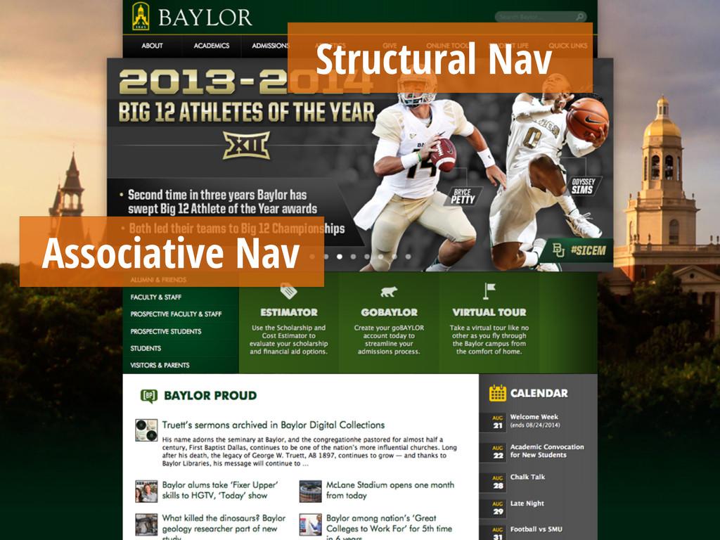 Structural Nav Associative Nav